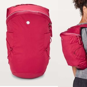 Lululemon Run All Day Backpack II *13L Berry Red